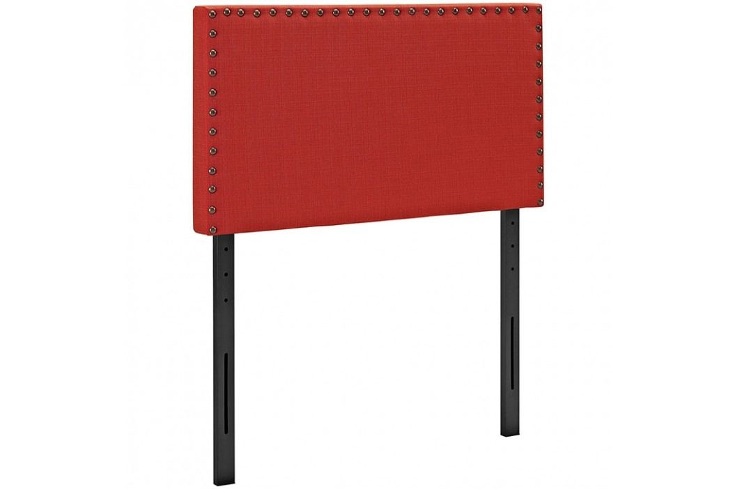 Phoebe Twin Fabric Headboard in Atomic Red Beds