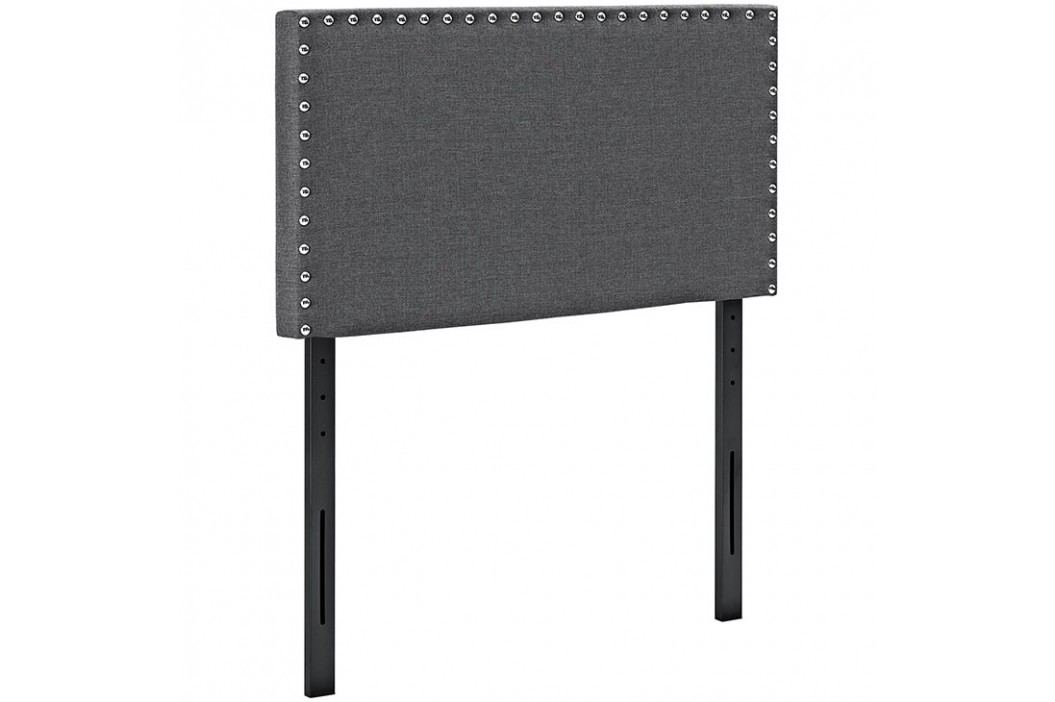 Phoebe Twin Fabric Headboard in Gray Beds
