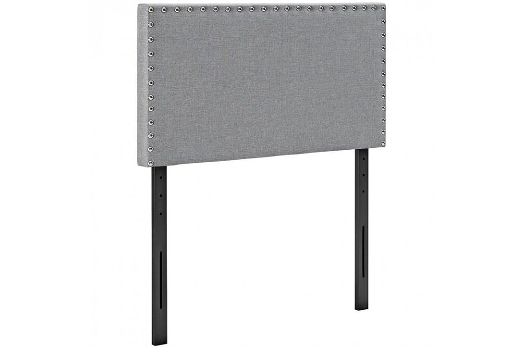 Phoebe Twin Fabric Headboard in Light Gray Beds