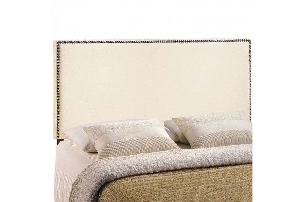 Region Full Nailhead Upholstered Headboard in Ivory Beds