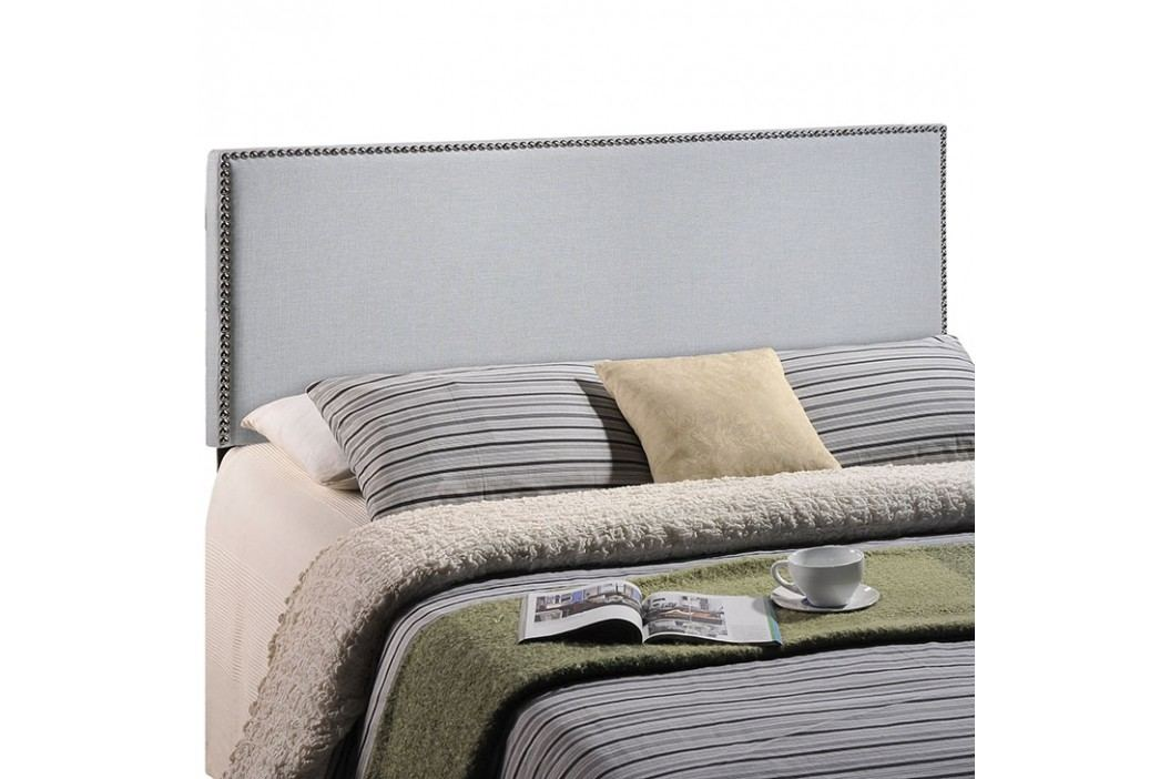 Region Full Nailhead Upholstered Headboard in Sky Gray Beds