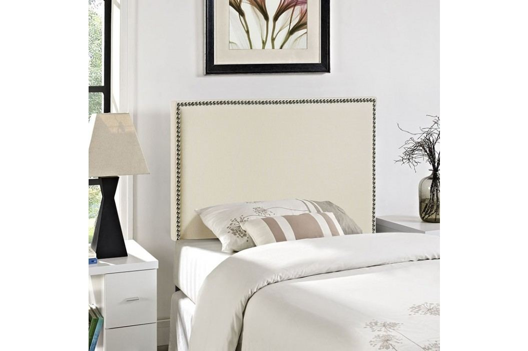 Region Twin Nailhead Upholstered Headboard in Ivory Beds