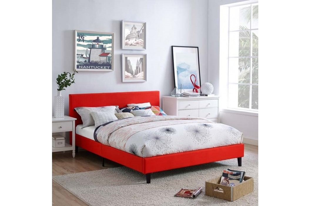 Anya Full Fabric Bed in Atomic Red Beds
