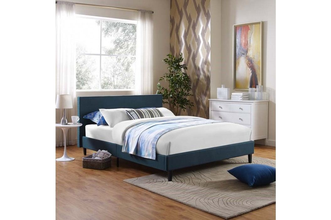 Anya Full Fabric Bed in Azure Beds