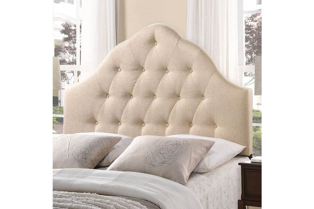 Sovereign Queen Fabric Headboard in Beige Beds
