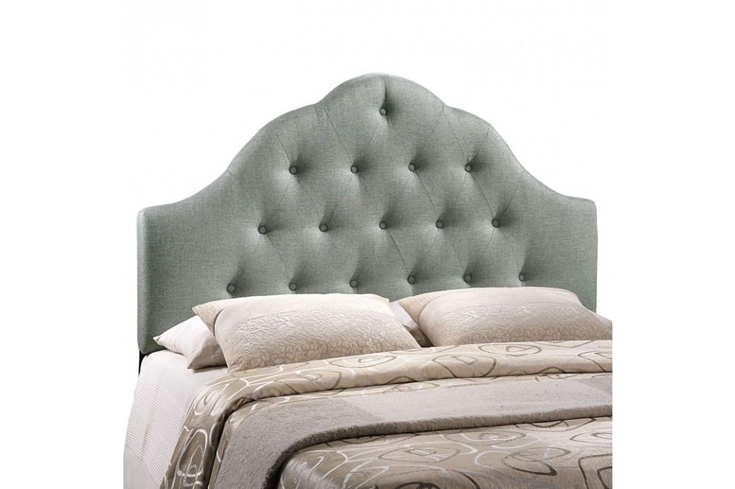 Sovereign Queen Fabric Headboard in Gray Beds