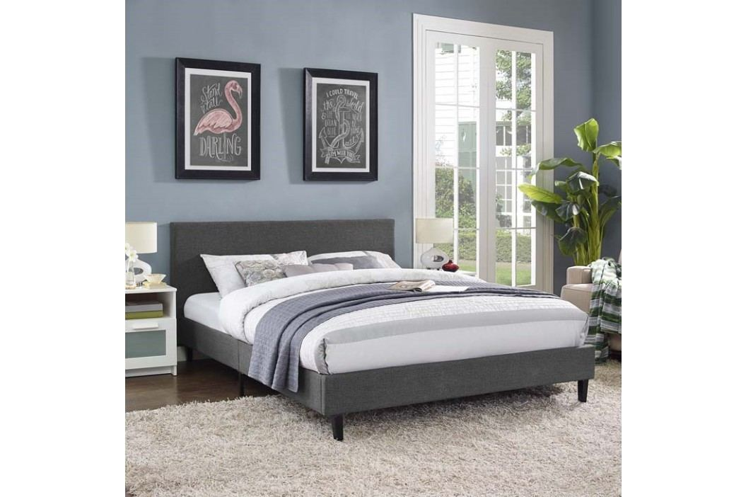 Anya Full Fabric Bed in Gray Beds