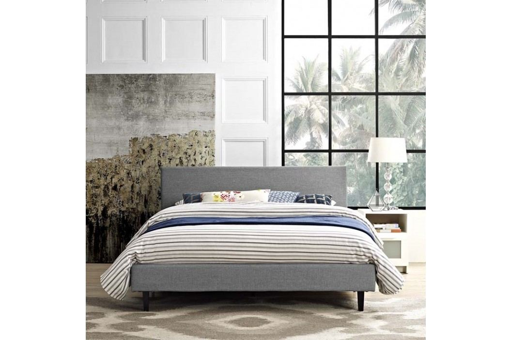 Anya Full Fabric Bed in Light Gray Beds