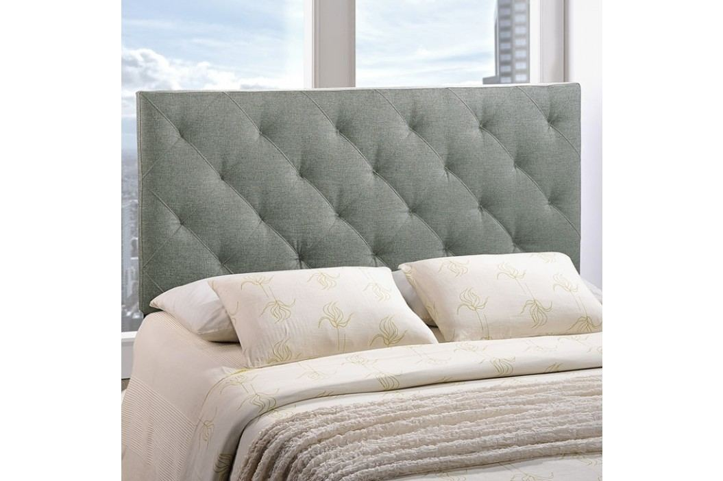 Theodore King Fabric Headboard in Gray Beds