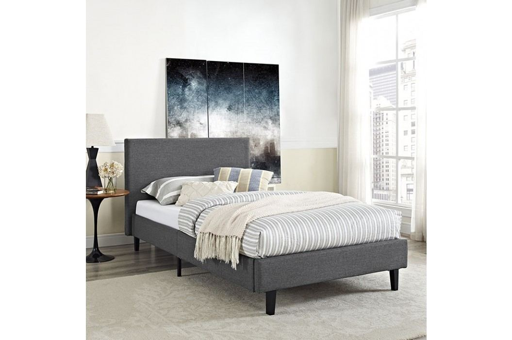 Anya Twin Bed in Gray Beds