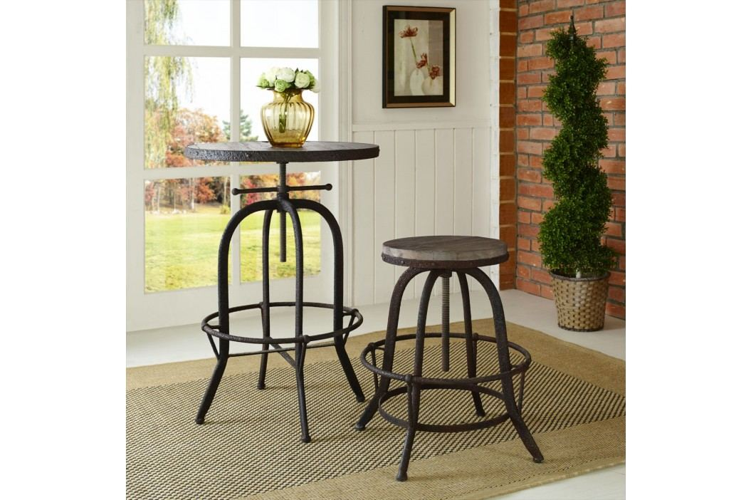 Collect Wood Top Bar Stool in Brown Bar Tables and Stools