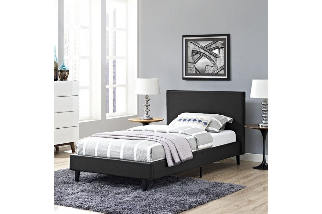 Anya Twin Vinyl Bed in Black Beds