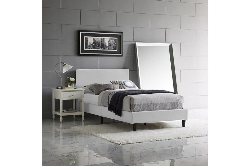 Anya Twin Vinyl Bed in White Beds