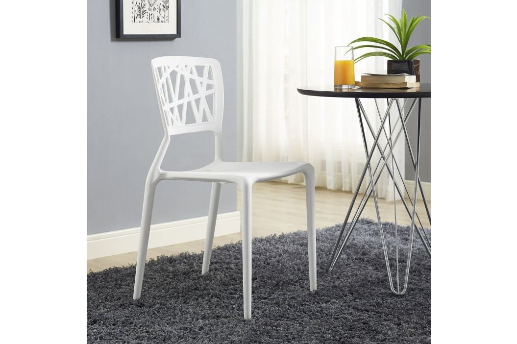 Astro Dining Side Chair in White Dining Chairs