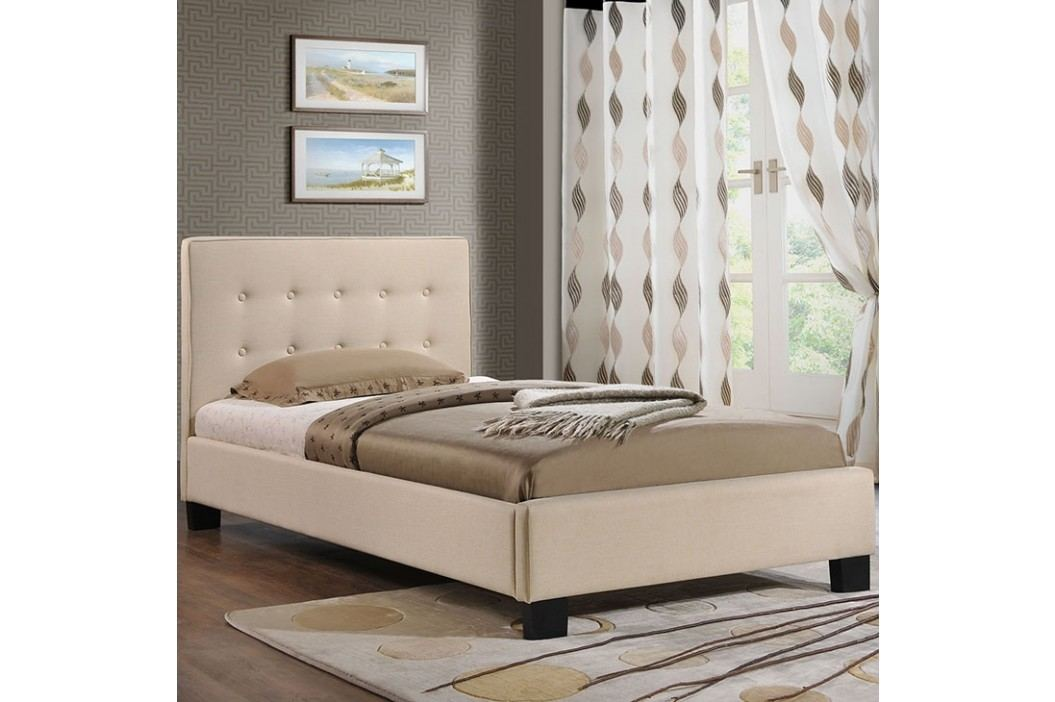 Caitlin Twin Fabric Bed in Beige Beds