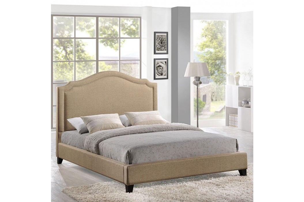 Charlotte Queen Bed in Beige Beds
