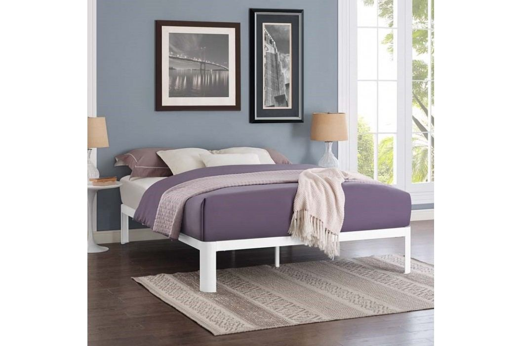 Corinne Full Bed Frame in White Beds