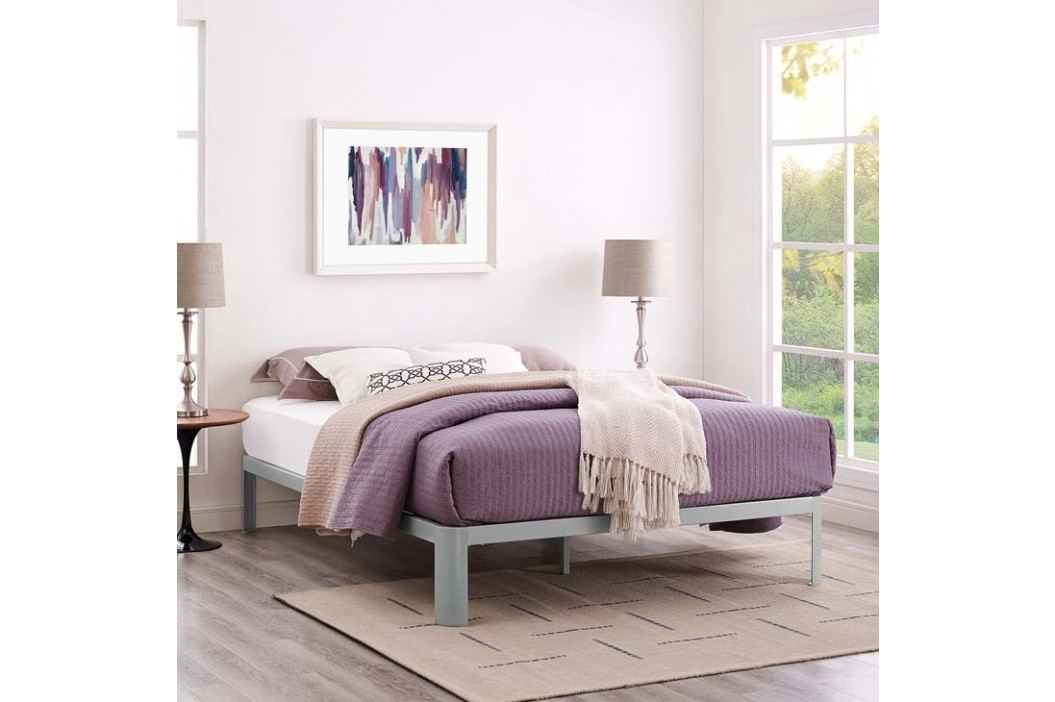 Corinne King Bed Frame in Gray Beds