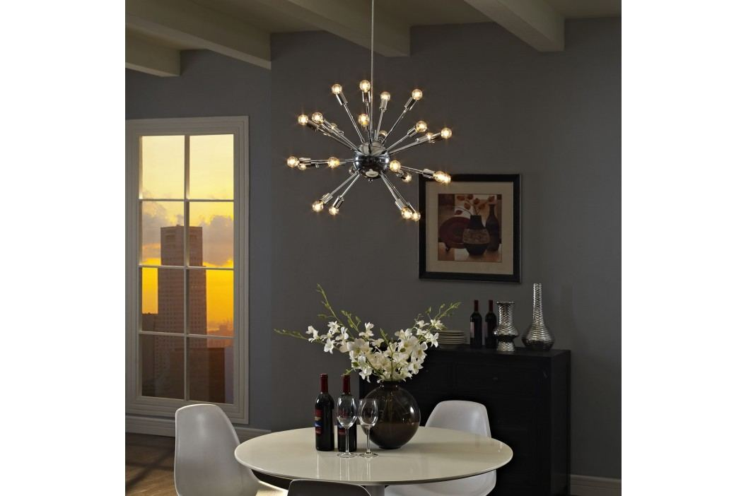 Gamut Chandelier in Silver Chandeliers and Pendant Lamps