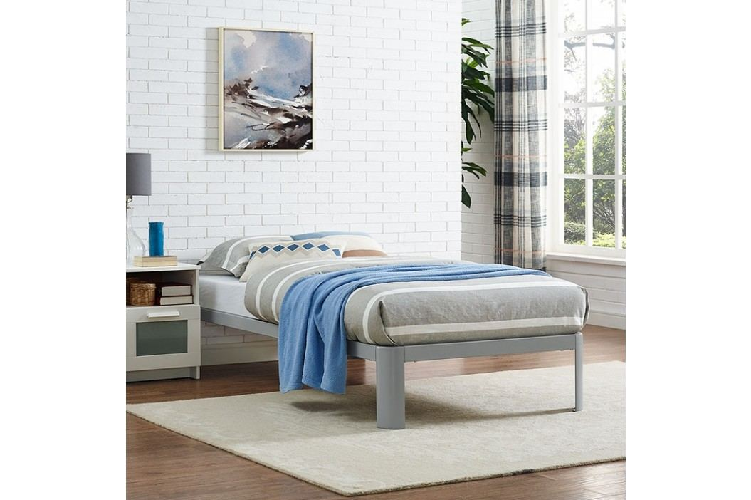 Corinne Twin Bed Frame in Gray Beds