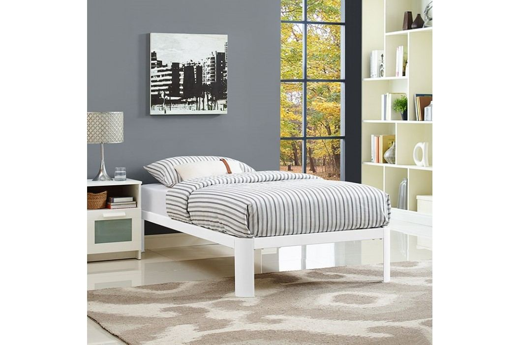 Corinne Twin Bed Frame in White Beds