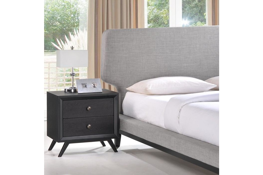 Bethany 2 Piece Queen Bedroom Set in Black Gray Products