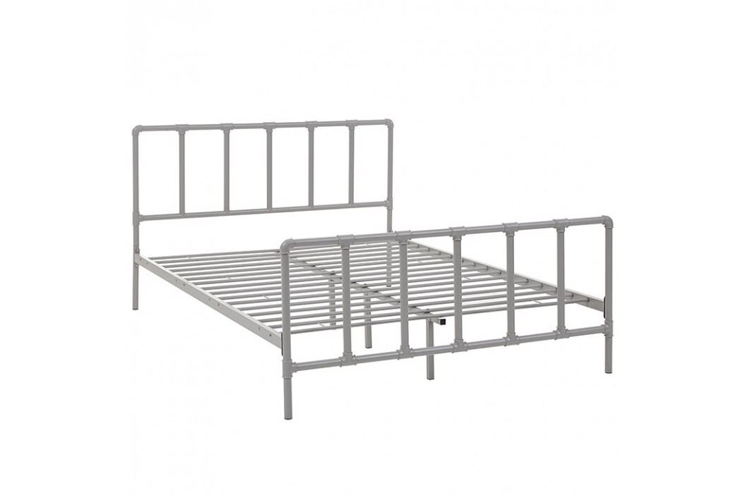 Dower Queen Stainless Steel Bed in Gray Beds