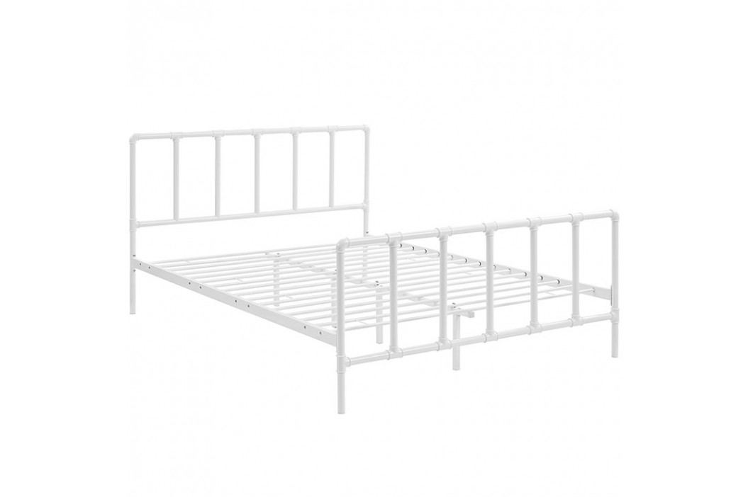 Dower Queen Stainless Steel Bed in White Beds