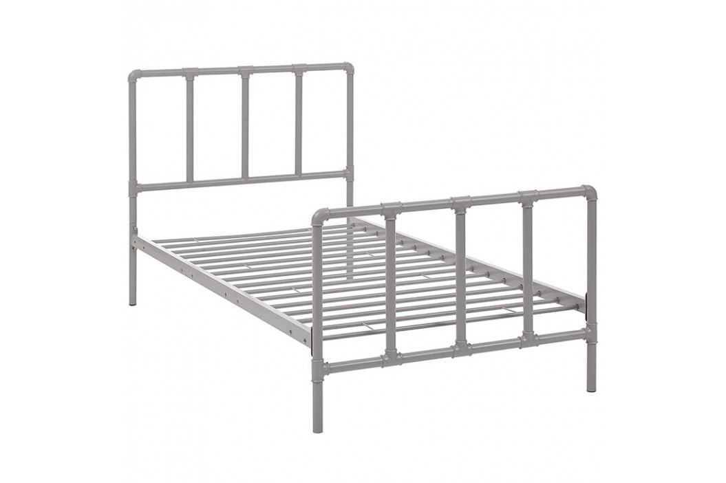 Dower Twin Bed in Gray Beds