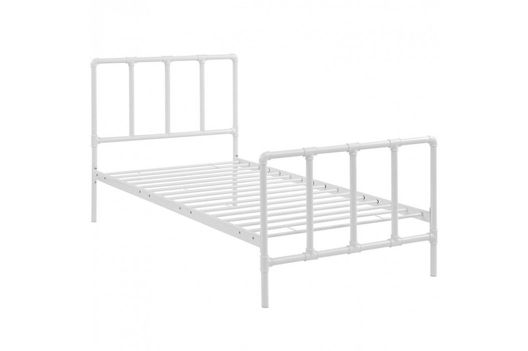 Dower Twin Bed in White