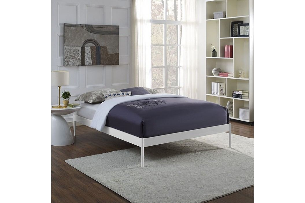 Elsie King Fabric Bed Frame in White Beds