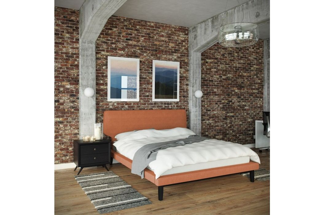Bethany 2 Piece Queen Bedroom Set in Black Orange Products