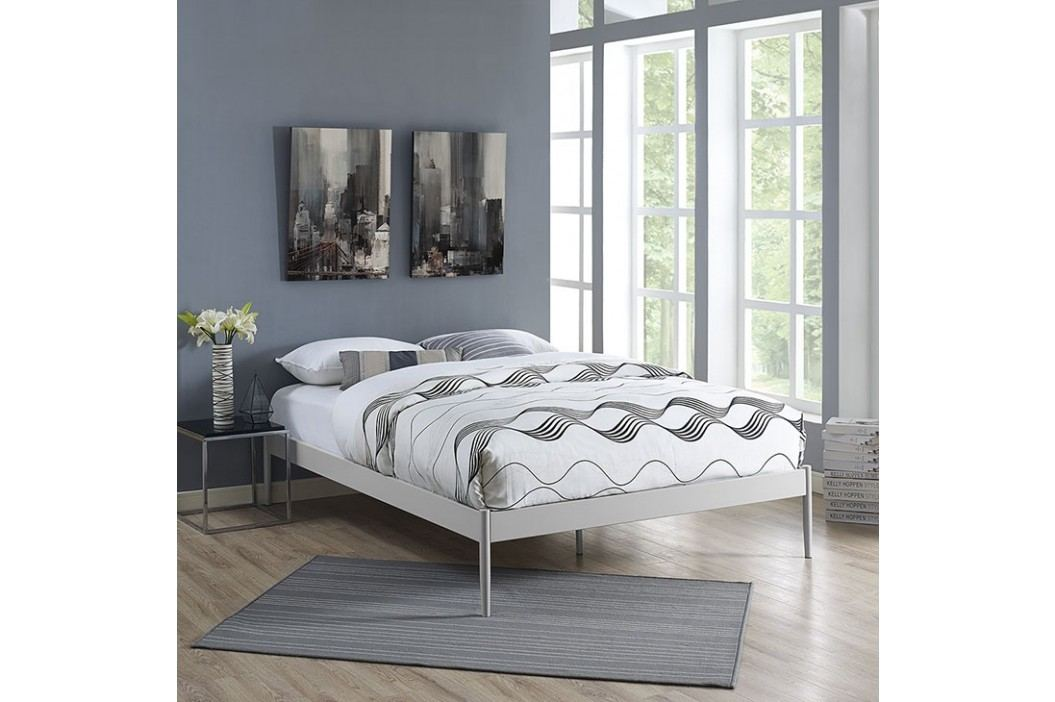 Elsie Queen Stainless Steel Bed Frame in Gray Beds