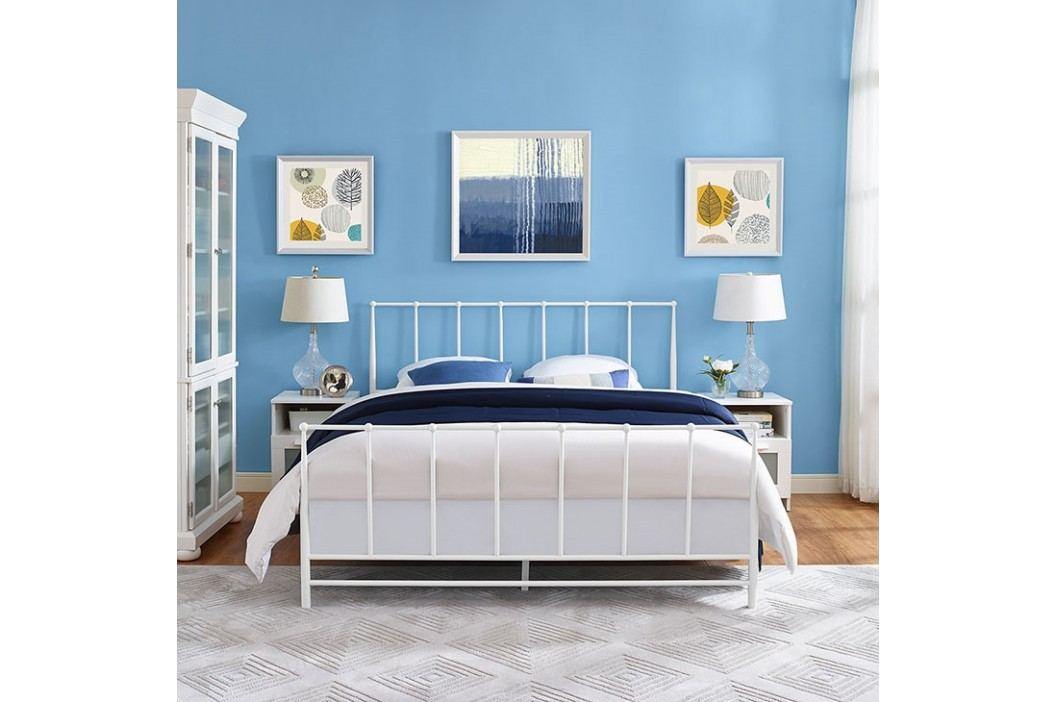 Estate King Bed in White Beds