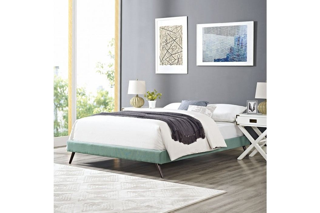 Helen Full Fabric Bed Frame with Round Splayed Legs in Laguna Beds
