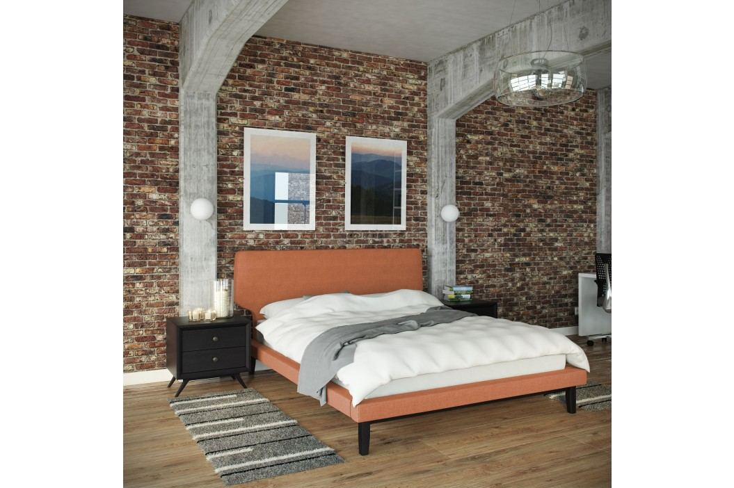 Bethany 3 Piece Queen Bedroom Set in Black Orange Products