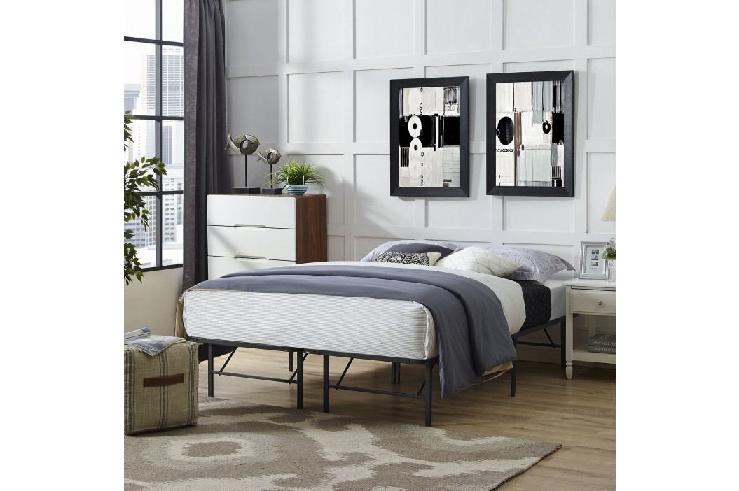 Horizon Full Stainless Steel Bed Frame in Brown Beds