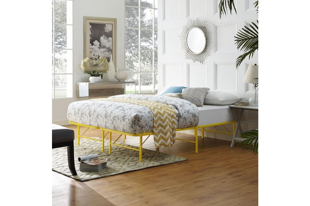 Horizon Full Stainless Steel Bed Frame in Yellow Beds