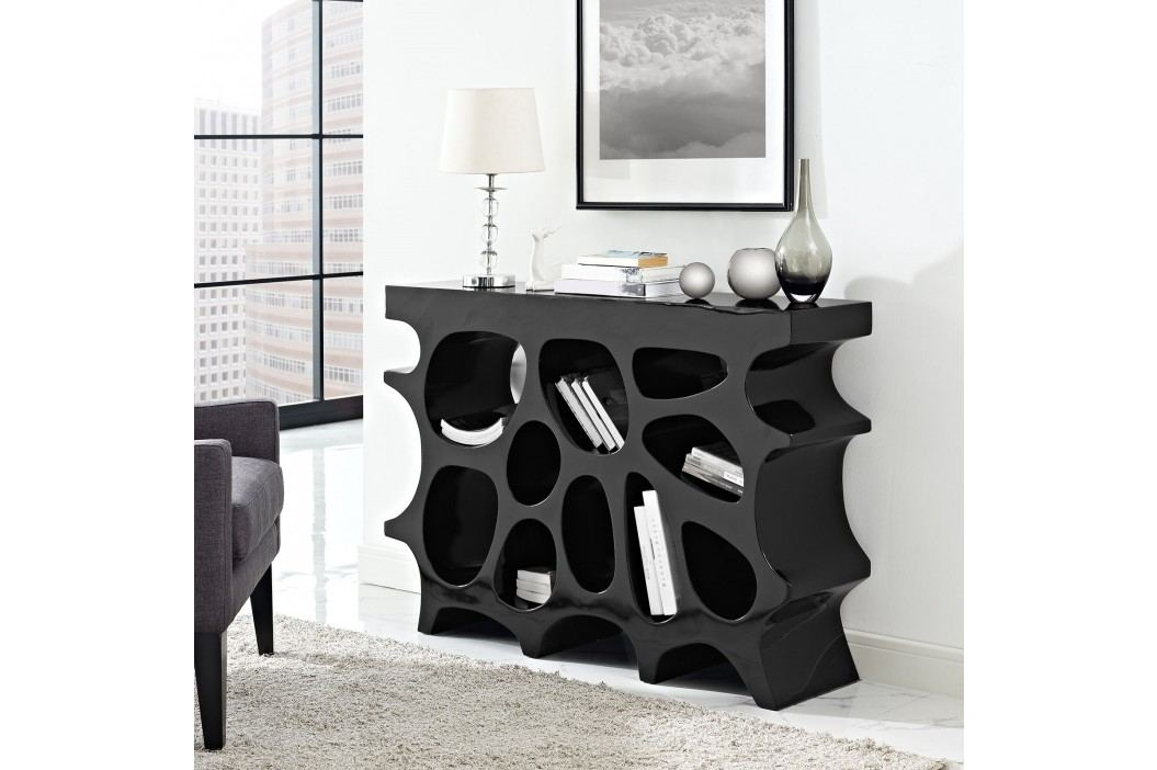 Wander Small Console Table in Black Shelves and Stands