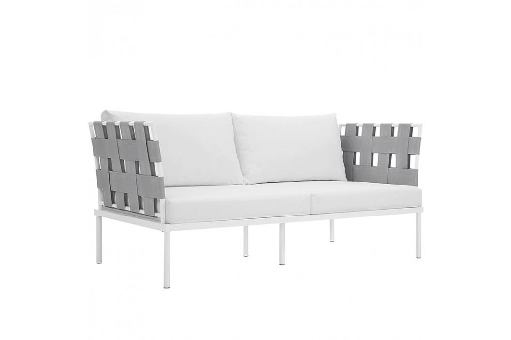 Harmony Outdoor Patio Aluminum Loveseat in White White Products
