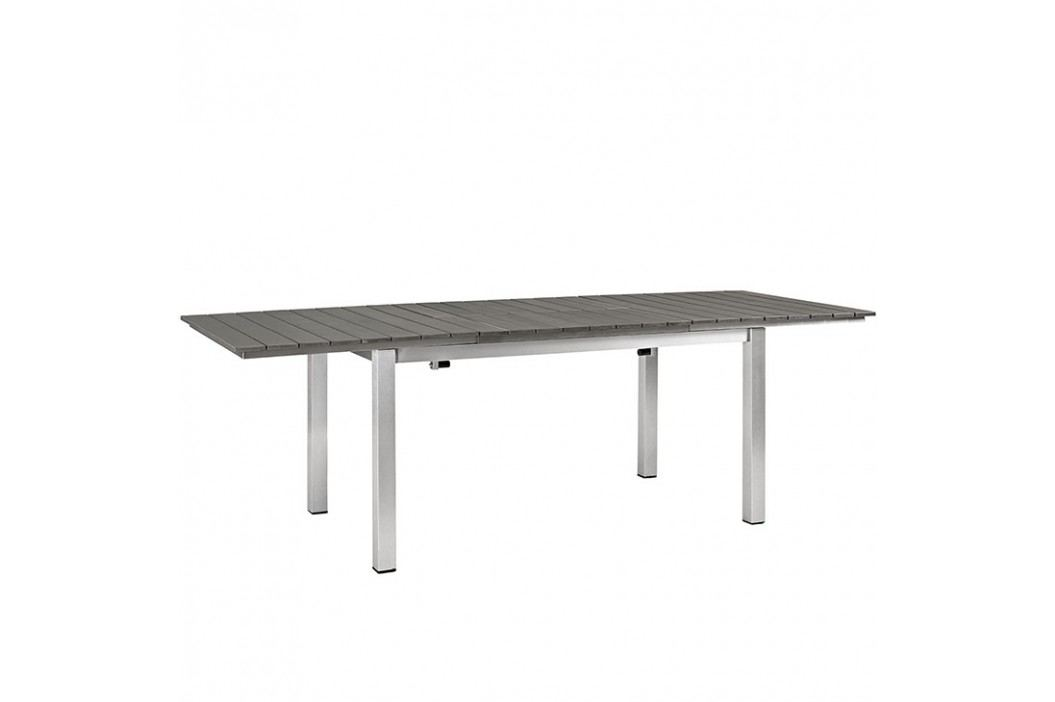 Shore Outdoor Patio Wood Dining Table in Silver Gray Products