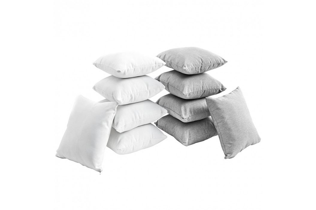 Gather Ten Piece Pillow Set in White Gray Outdoor Lounge Sets