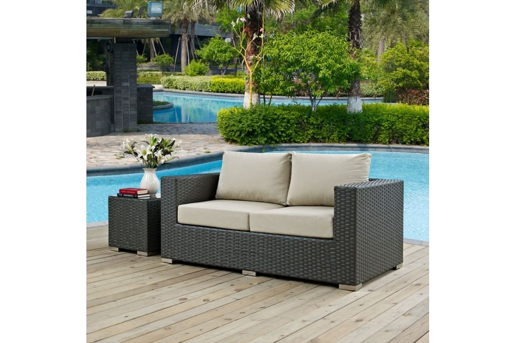 Sojourn Outdoor Patio Sunbrella?? Loveseat in Canvas Antique Beige Products