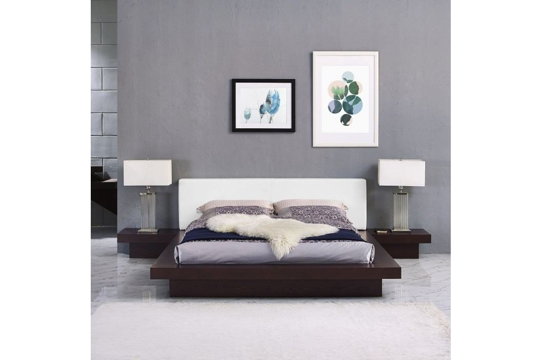 Freja 3 Piece Queen Vinyl Bedroom Set in Cappuccino White Products