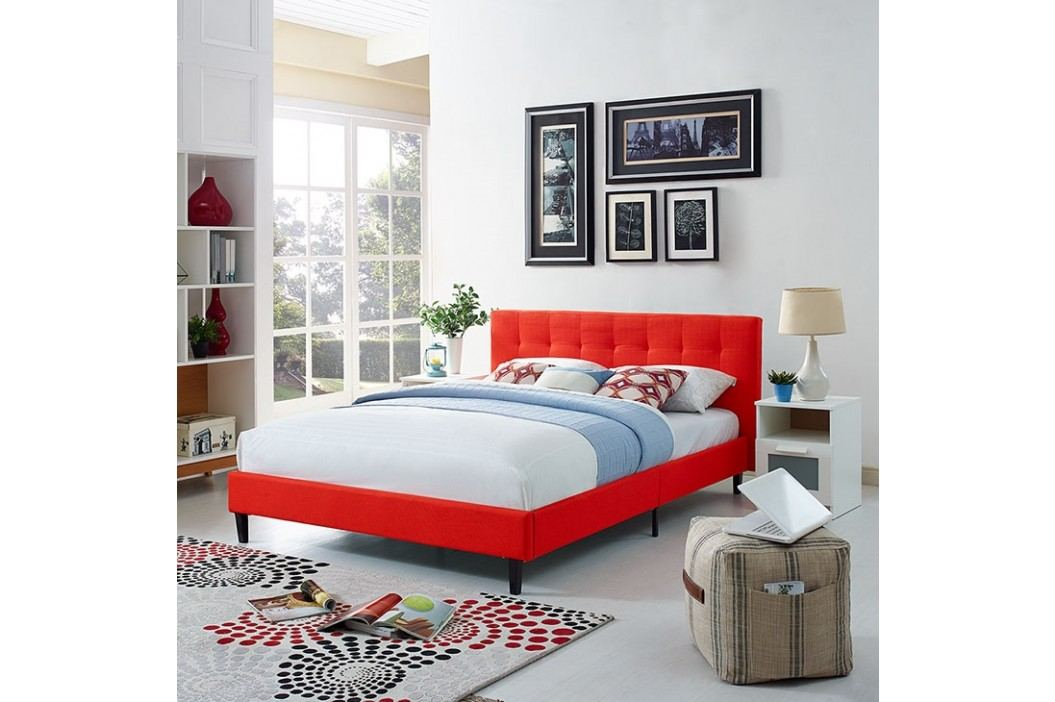 Linnea Queen Fabric Bed in Atomic Red Beds