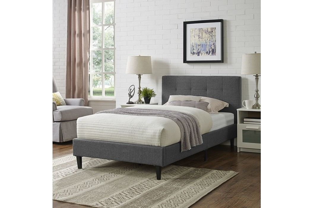 Linnea Twin Bed in Gray Beds