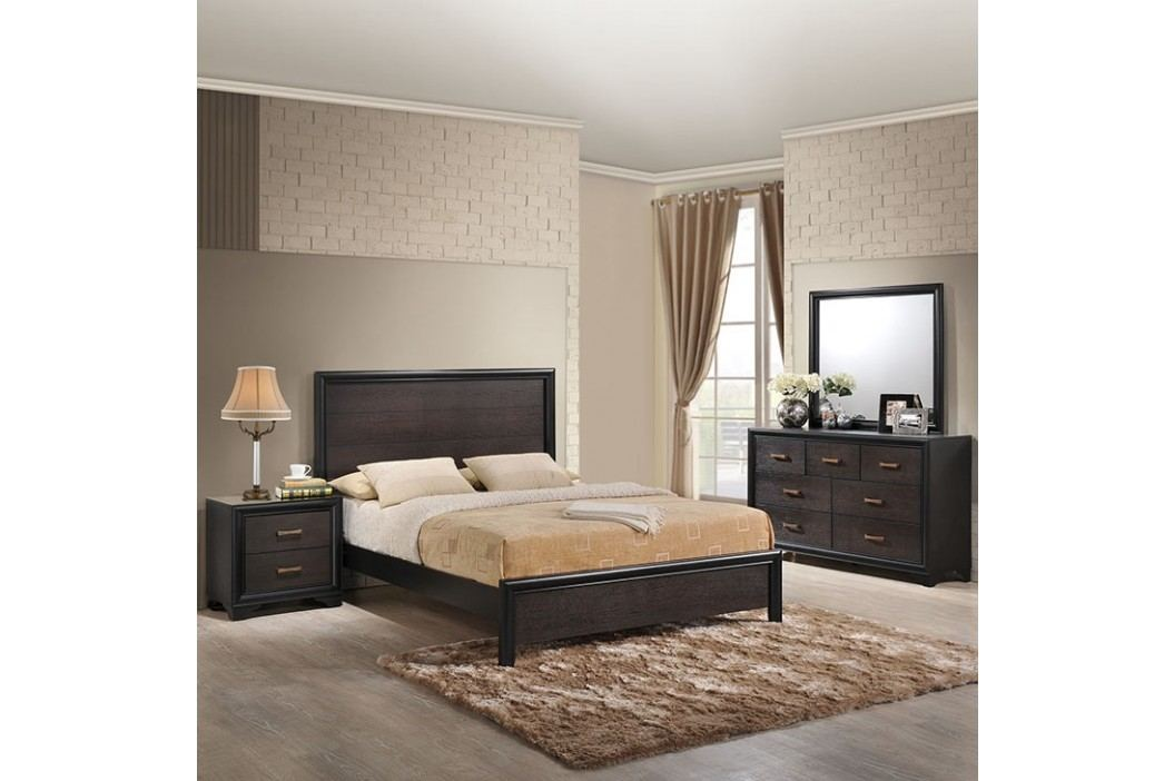 Madison 4 Piece Queen Walnut Bedroom Set in Walnut Products