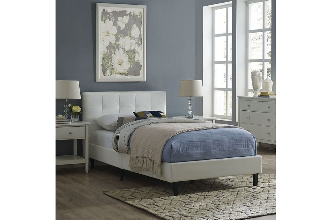 Linnea Twin Bed Frame in White Beds