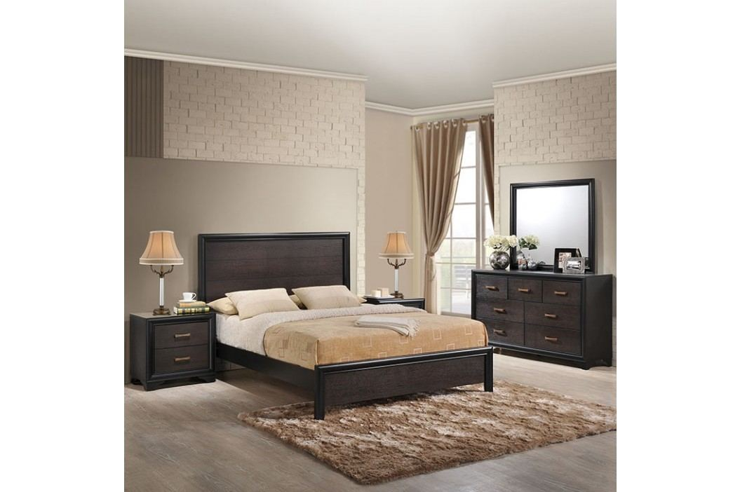 Madison 5 Piece Queen Walnut Bedroom Set in Walnut Products