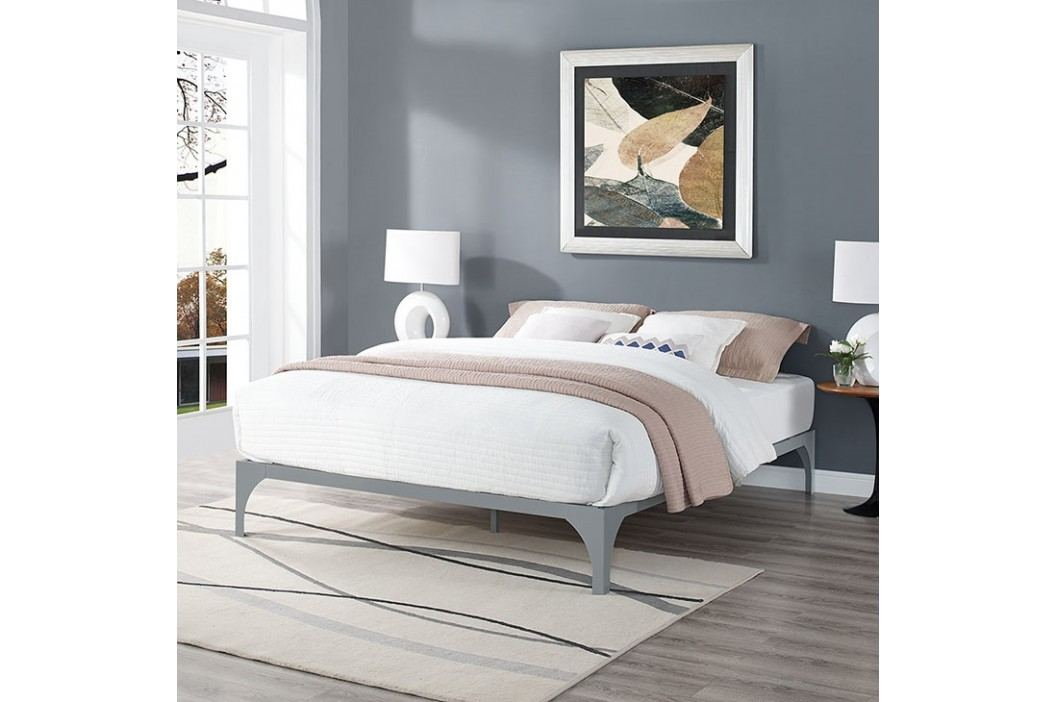 Ollie King Bed Frame in Gray Beds